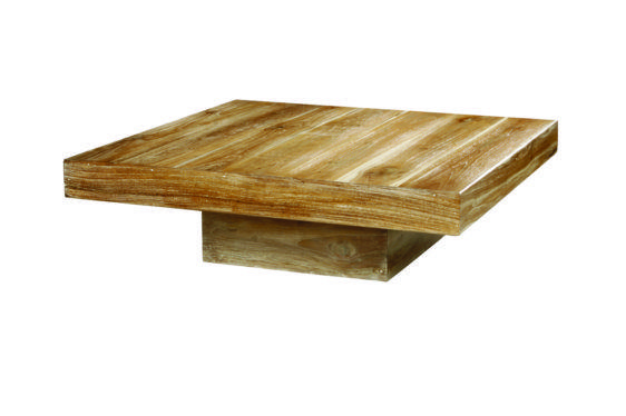 Τραπέζι Σαλονιού από Μασίφ Κορμό Δέντρου J-146504