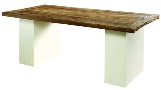 Τραπέζι Τραπεζαρίας από Μασιφ Κορμό Δέντρου J-146502