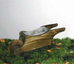 Ξύλινo Καροτσάκι Διακοσμητικό Κήπου 15-00-278