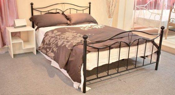 Κρεβάτι Μεταλλικό Ημίδιπλο σε Κλασσική Γραμμή Sar-357480