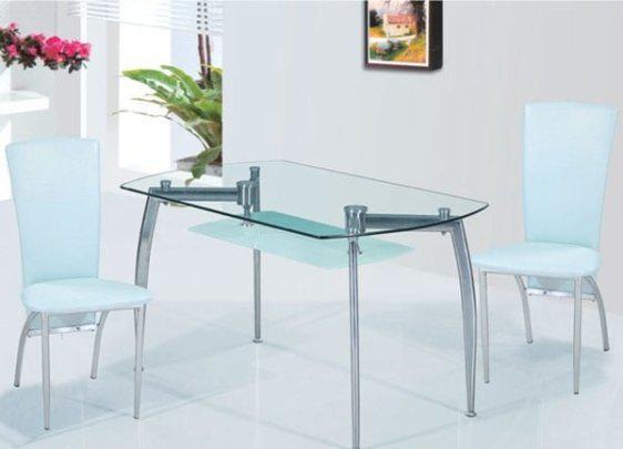 Τραπέζι Γυάλινο Sar-428617, Διαστάσεις:130x80