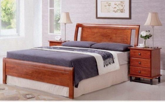 Κρεβάτι Ξύλινο με Μασίφ Τραβέρσες Sar-116480