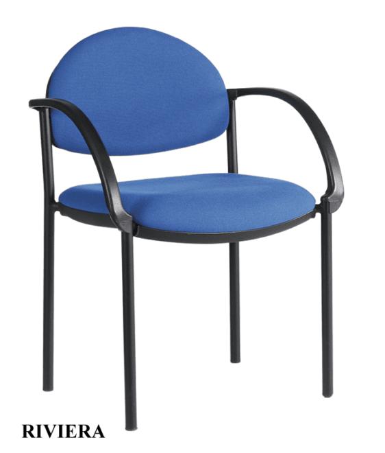 Καρέκλα επισκέπτου με μπράτσα ξύλινο del-Riviera