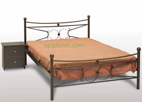 Κρεβάτι μεταλλικό μονό ή ημίδιπλο Γογ-Πέταλο
