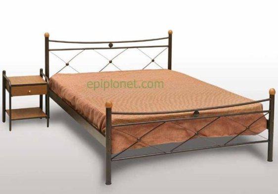 Κρεβάτι Μεταλλικό Γ-Χιαστή