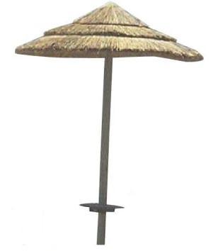 Ομπρέλα Ψάθινη με Κορμό από Σουηδικό Πεύκο Thatch