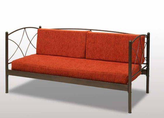Καναπές Κρεβάτι Μεταλλικός με Μαξιλάρες Γ-Άνδρος-110052