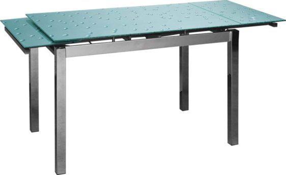 Επεκτεινόμενο Τραπέζι Κουζίναs Γυαλί KO-2050, Διαστάσεις:70x110+60