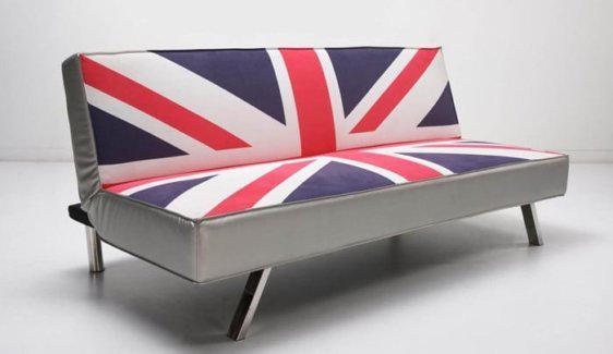 Καναπές με Manchester Βρετανική σημαία V-110027