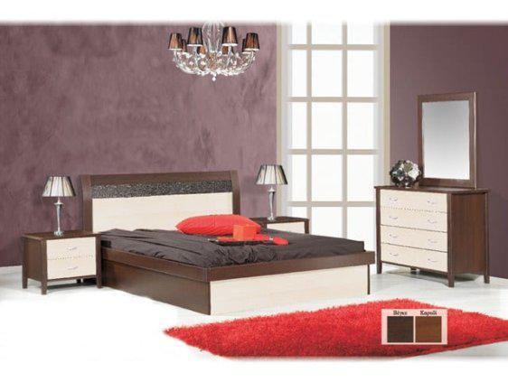 Κρεβάτι Ξύλινο Μονοκόμματο Δίχρωμο Σφένδαμος Ν46