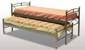 Κρεβάτι με συρόμενο μηχανισμό απο ενισχυμένο μέταλλο Γ-Μαργαρίτα