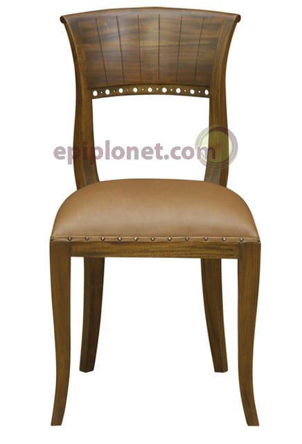Καρέκλα απο μασιφ μαόνι φουρνιστό  J-135012