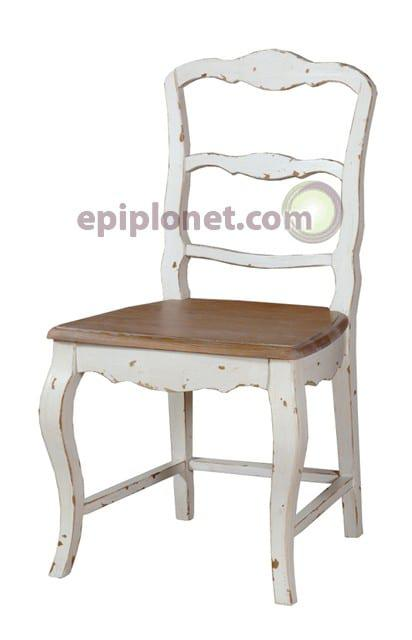 Καρέκλα Τραπεζαρίας από Μασίφ Ξύλο σε Country Στυλ J-142512