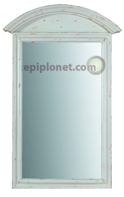 Καθρέφτης απο Μασίφ Ξύλο Λευκή Πατίνα J-142516