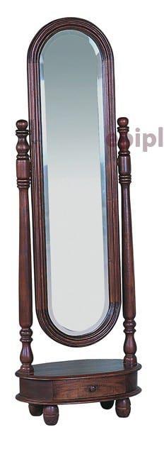 Καθρέφτης δαπέδου ολόσωμος απο μαόνι φουρνιστό με ένα συρτάρι JMI26