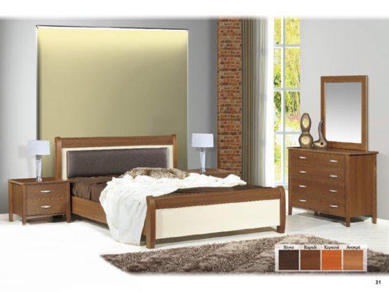 Δίχρωμος συνδυασμός χρωμάτων σφένδαμος και ανιγκρέ στο κρεβάτι  Ν16Β
