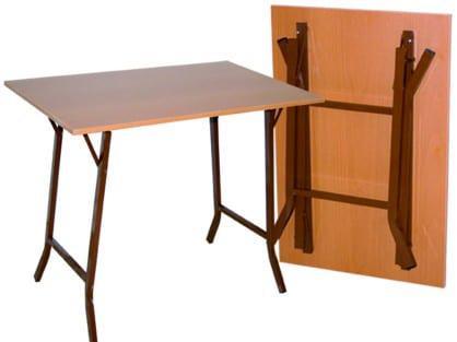 Τραπέζι Εσωτερικού Χώρου Πτυσσόμενο Πλιαν με Βάση Μπριτζ