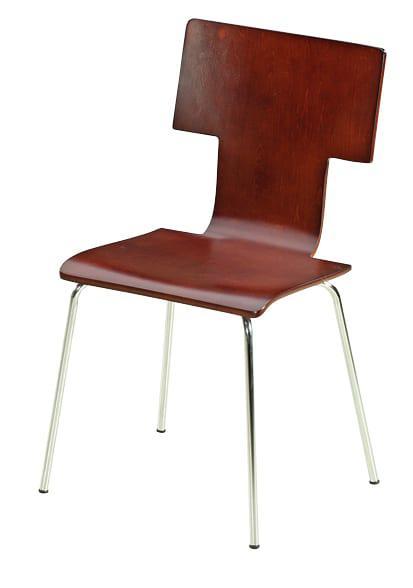 """Καρέκλα κουζίνας από μέταλλο και ξύλο """"Τ"""" βέγκε κ-190164"""