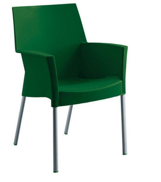 Πολυθρόνα από αλουμίνιο και πλαστικό Alabama