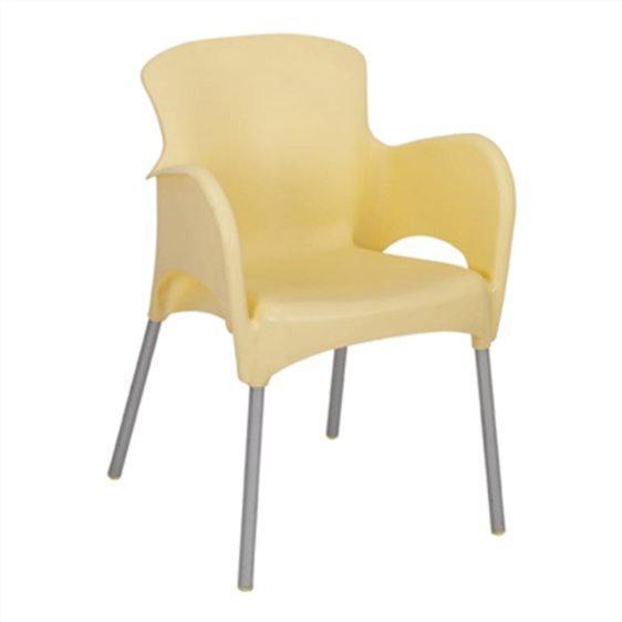 Πολυθρόνα πλαστική για cafe Corona