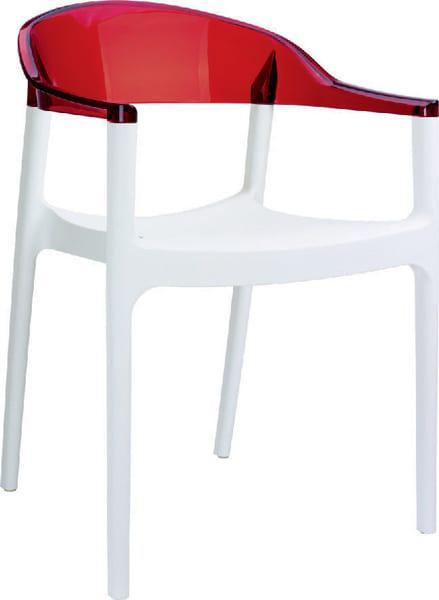 Καρέκλα απο υλικό polycarbonate δίχρωμη Brizite