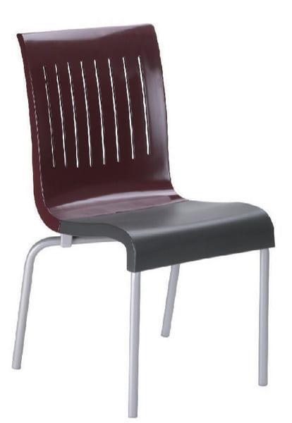 Καρέκλα πλαστική με σκελετό αλουμινίου G2 Lattes απο την Grosfillex