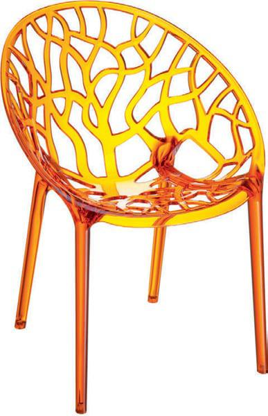 Καρέκλα εξωτερικού χώρου μοντέρα απο πολυκαρμπονικό υλικό Pearl