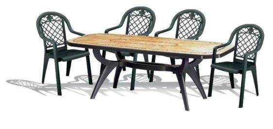 Σετ τέσσερις καρέκλες με τραπέζι απο την Grosfillex A-Jamaica