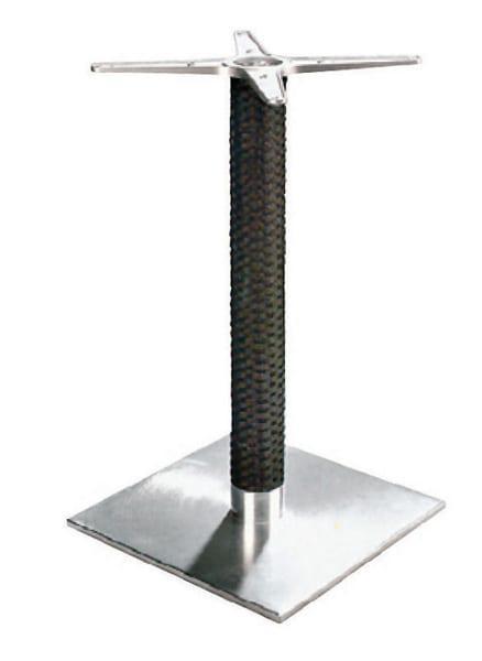 Τετράγωνη βάση αλουμινίου επενδεδυμένη με wicker Elit