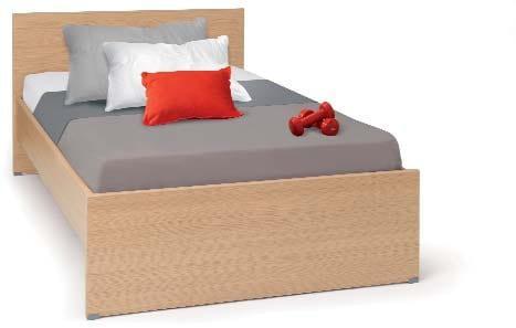 Ελληνικό κρεβάτι μελαμίνης ημίδιπλο σε ίσια γραμμή Eco-522