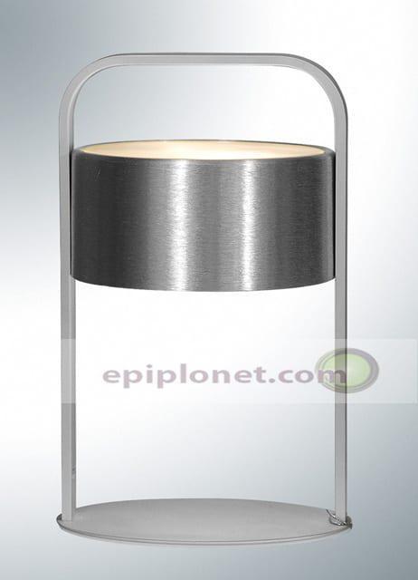 Λάμπα επιτραπέζια απο αλουμίνιο και αμοβολισμένο γυαλί 722-363-054