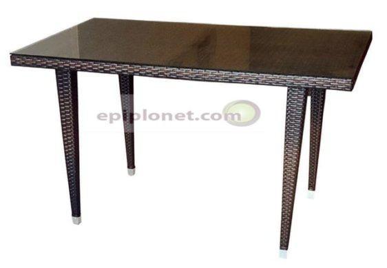 Ορθογώνιο τραπέζι για τον κήπο A-Havana
