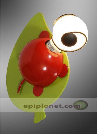 """Παιδική απλίκα σε κόκκινο και πράσινο χρώμα """"πασχαλίτσα"""" 730-330-025"""