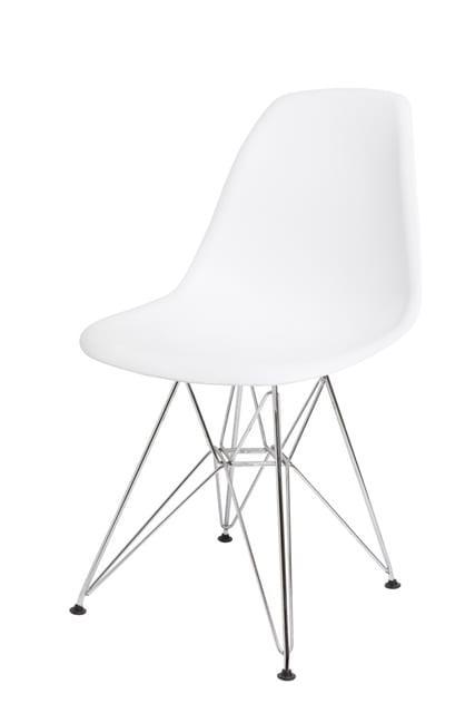 """Καρέκλα κουζίνας με πλαστικό κάθισμα και σκελετό χρωμίου """"αραχνη""""  V-190321"""
