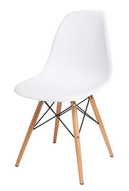 Καρέκλα  με πλαστικό κάθισμα και ξύλινα πόδια V-190293
