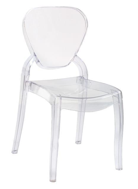 Καρέκλα απο polycarbonate διάφανη σε κλασική γραμμή Var-Rita