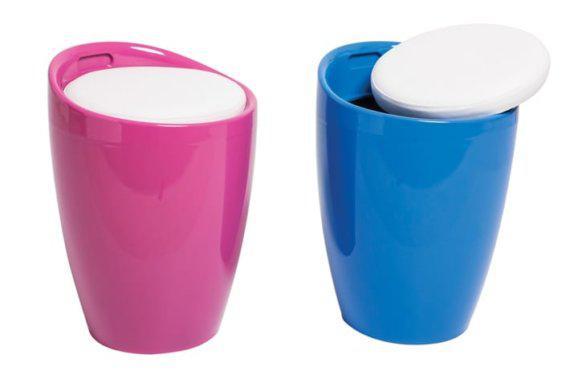 Σκαμπό για το παιδικό δωμάτιο σε μπλέ και ρόζ χρώμα Var-BoBo