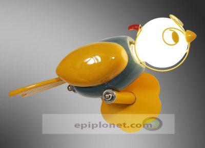 """Απλίκα παιδική για τον τοίχο """"κίτρινο πουλάκι """" 730-330-024"""