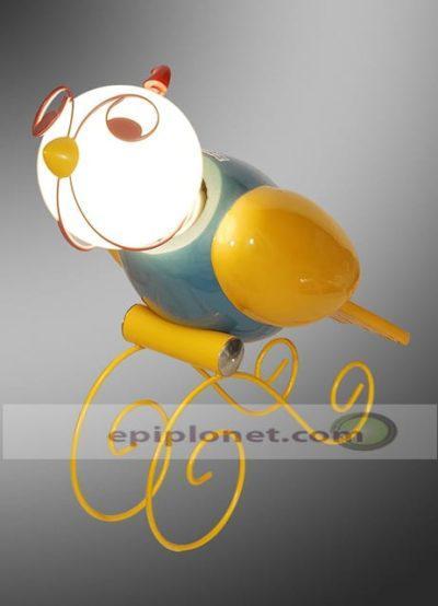 Λάμπα παιδική πουλάκι σε κίτρινο χρώμα 730-363-008