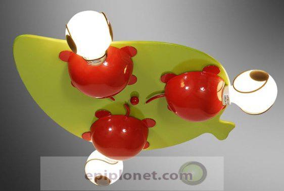 """Φωτιστικό οροφής για το παιδικό δωμάτιο """"κόκκινες πασχαλίτσες"""" 730-301-016"""