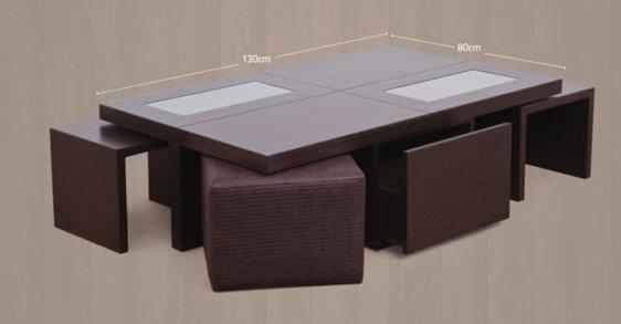 Τραπέζι σαλονιού μοντέρνο με ζιγκον και σκαμπό Ρόμα 120037
