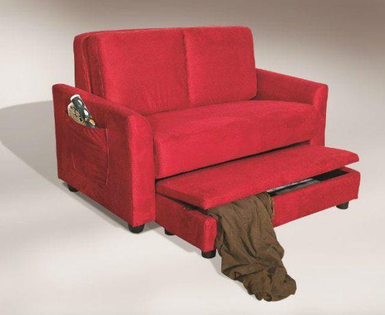 Διθέσιος καναπές με ενσωματωμένο πουφ με αποηκευτικό χώρο U-Agathon-110039