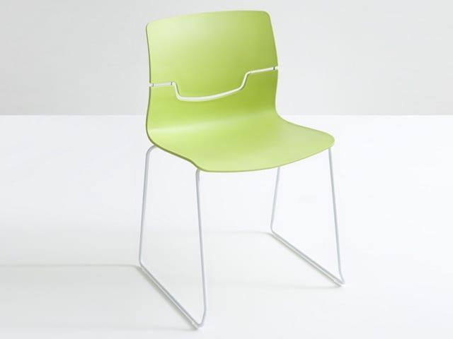Καρέκλα απο σκελετό χρωμίου απο την Gaber Slot-s