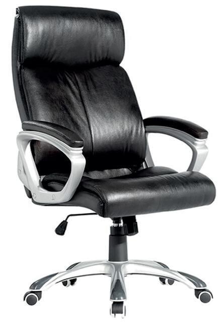 Καρέκλα γραφείου μαύρη δερματίνη A-Black
