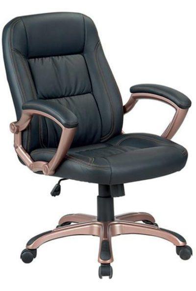 Καρέκλα γραφείου αναπαυτική με μπρονζέ βάση A-Bronze