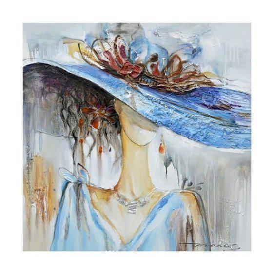 """Πίνακας ζωγραφικής χειροποίητος με αφηρημένη τέχνη σε σχέδιο """"Γυναίκα"""" Mar-60-34451"""