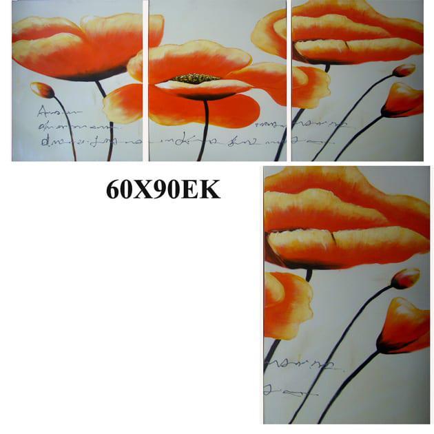 """Πίνακας ζωγραφικής """"Πορτοκαλί λουλούδι"""" Mar-15-00-13229"""