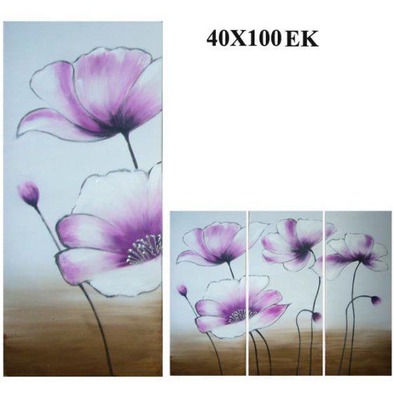 """Πίνακας ζωγραφικής """"Μωβ Λουλούδι"""" Mar-15-00-13224"""