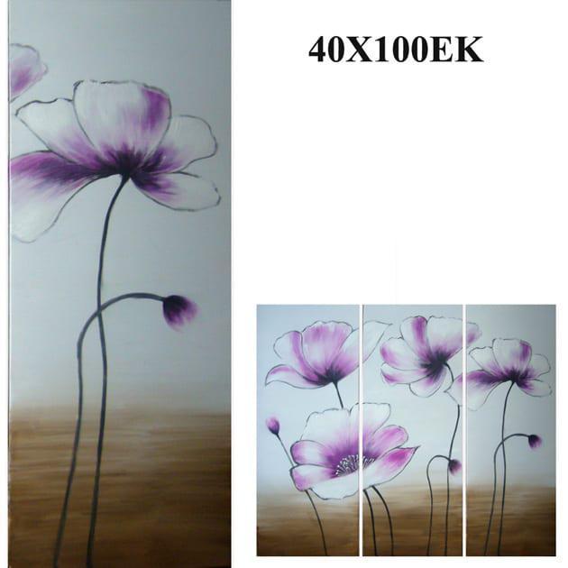 """Πίνακας ζωγραφικής """"Μωβ Λουλούδι"""" Mar-15-00-13226"""