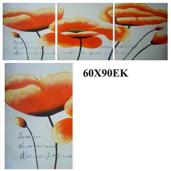 """Πίνακας ζωγραφικής """"Πορτοκαλί Λουλούδι"""" Mar-15-00-13227"""